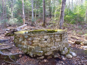 foundation of old springhouse