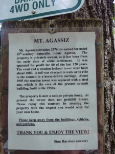 History of Mt Agassiz