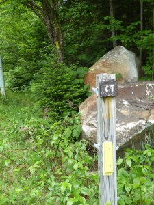 Follow the yellow signs of the Cohos Trail