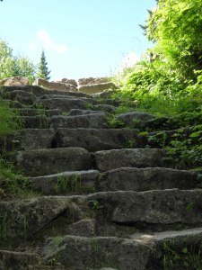 steps before hut